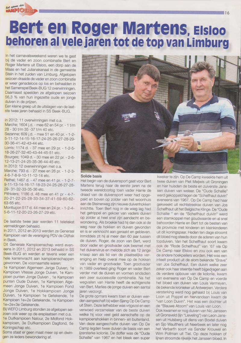 Reportage 2014 Martens en Zn in Spoor der Kampioenen_1