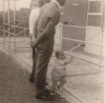 Richard Hein with his father at White Mill 1964.jpg